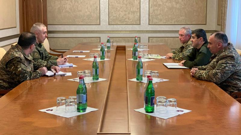 Արայիկ Հարությունյանն ընդունել է ՌԴ խաղաղապահ զորակազմի հրամանատար Ռուստամ Մուրադովին