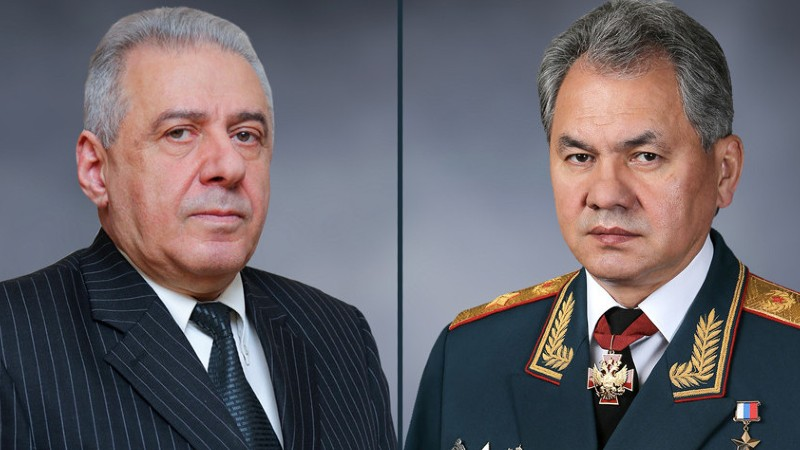 Հարությունյանն ու Շոյգուն քննարկել են Սյունիքում և Գեղարքունիքում ռուս սահմանապահների տեղակայման հարցը