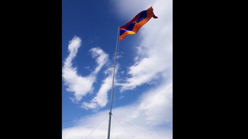 Շուռնուխում բարձրանում է Հայաստանի Հանրապետության ամենամեծ եռագույնը (տեսանյութ)