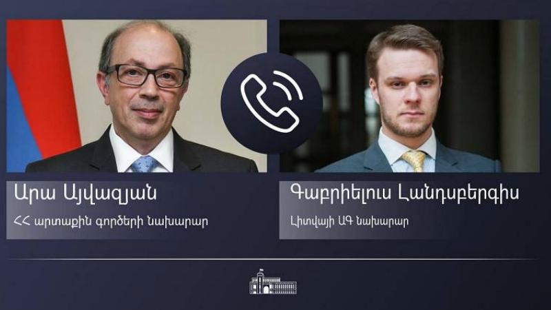 Հայաստանի և Լիտվայի ԱԳ նախարարները հեռախոսազրույց են ունեցել