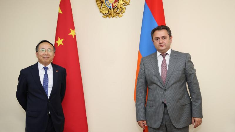 Հայաստանը շահագրգռված է Չինաստանի հետ բոլոր ոլորտային ուղղություններով համագործակցության զարգացմամբ. Հայկ Չոբանյանը՝ ՀՀ-ում Չինաստանի դեսպանին