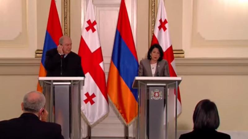 Հայաստանի և Վրաստանի նախագահների հայտարարությունները ԶԼՄ ներկայացուցիչների համար (ուղիղ միացում)