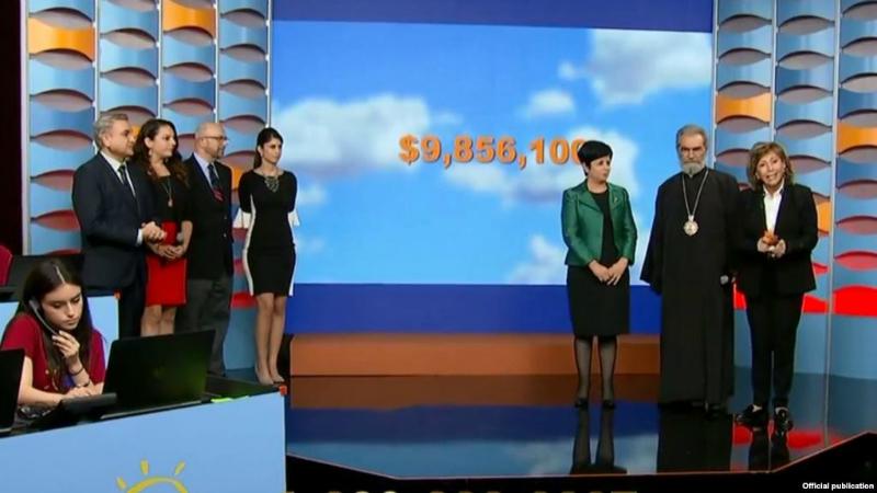 «Հայաստան» համահայկական հիմնադրամի հեռուստամարաթոնին նվիրաբերվել է շուրջ 10 մլն դոլար