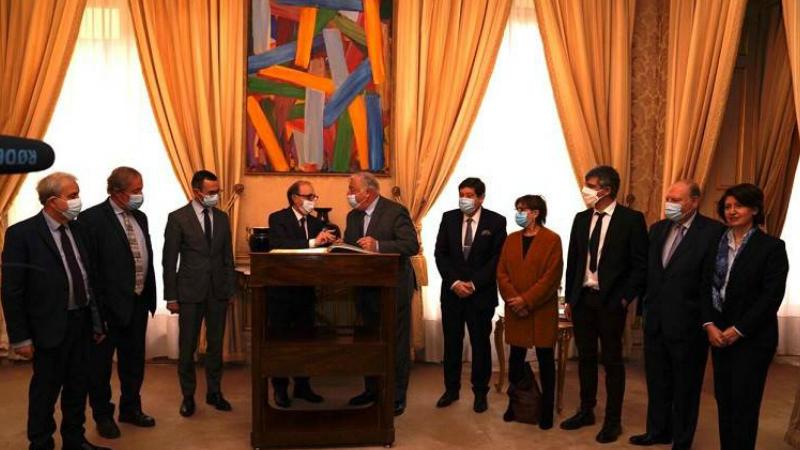 ԱԳ նախարար Արա Այվազյանը հանդիպել է Ֆրանսիայի Սենատի նախագահ Ժերար Լարշեի հետ (տեսանյութ)