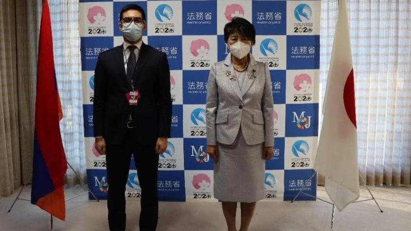 ՀՀ և Ճապոնիայի արդարադատության նախարարների հանդիպմանը ներկայացվել են հայ ռազմագերիների վերադարձի հետ կապված խնդիրները