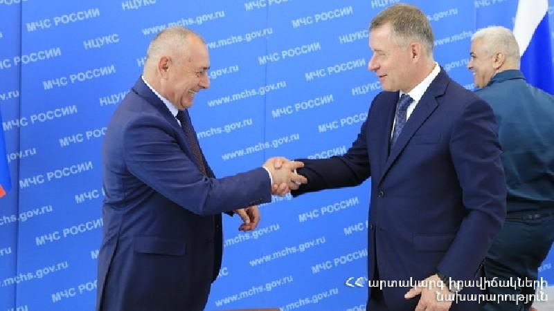 ԱԻ նախարարի պաշտոնակատար Անդրանիկ Փիլոյանը Մոսկվայում հանդիպել է ՌԴ և Բելառուսի ԱԻ ղեկավարների հետ (տեսանյութ)