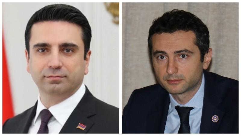 Ալեն Սիմոնյանը ցավակցել է Վրաստանի խորհրդարանի նախագահին