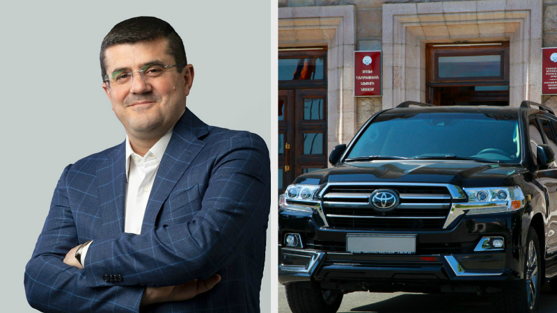 Արցախի նախագահ Արայիկ Հարությունյանը   թանկարժեք մեքենա է նվեր ստացել ռուսաստանաբնակ գործարարից