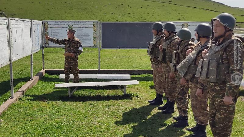 1-ին զորամիավորումում անցկացվել է հրաձգության գործնական պարապմունք