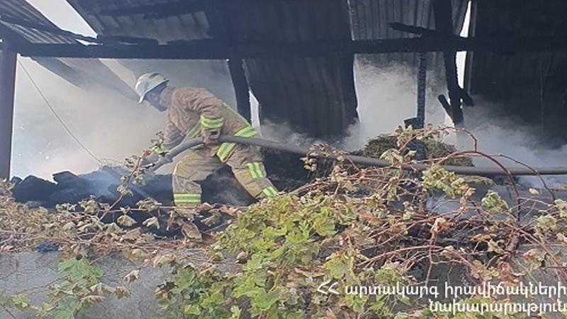 Գետափ գյուղում հրդեհ է բռնկվել