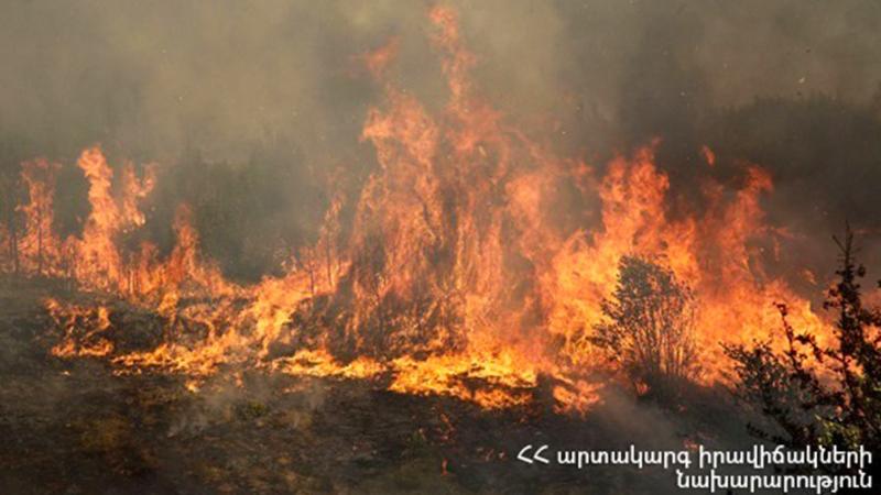 Կութ գյուղում բռնկված հրդեհի օջախները մեկուսացվել են. ԱԻՆ