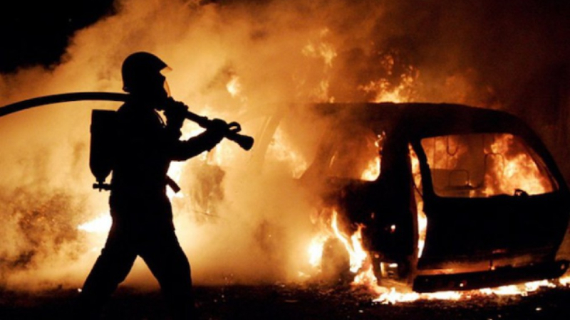 Նորագավիթի ՃՈ անցակետի մոտակայքում մեքենա է հրդեհվել. վարորդն այրվածքներով հոսսպիտալացվել է