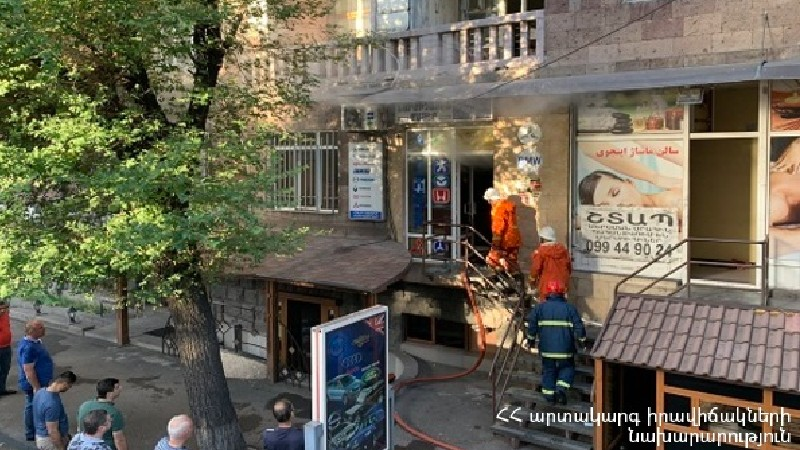 Հրդեհ «Երևան պանդոկ» ռեստորանում. հայտարարվել է հրդեհի բարդության «1 ԲԻՍ» կանչ