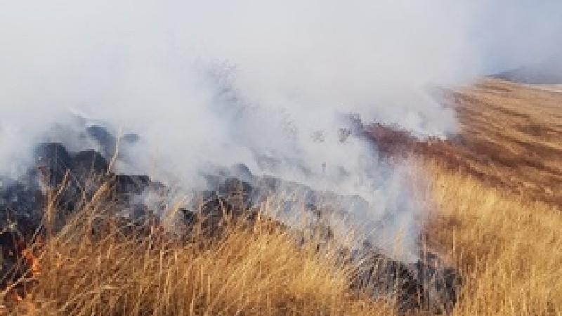 Շենաթաղ գյուղի մոտակա սարալանջին այրվում է մոտ 16 հա խոտածածկույթ