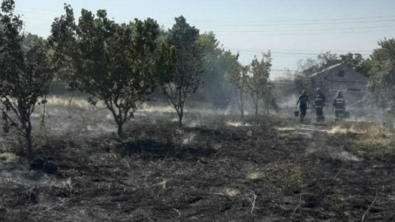 Այնթապ գյուղում այրվել է մոտ 1500 քմ խոտածածկույթ և մասնակի ջերմահարվել՝ 30 պտղատու ծառ