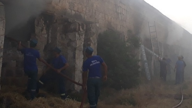 Նուբարաշենի թռչնաբուծական ֆաբրիկայի տարածքում բռնկված հրդեհը մարվել է․ սահմանվել է հերթապահություն