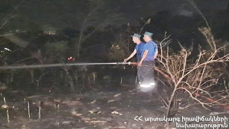 Ծիծեռնակաբերդի այգում բռնկված հրդեհը մարվել է. իրականացվում են հետհանգեցման աշխատանքներ
