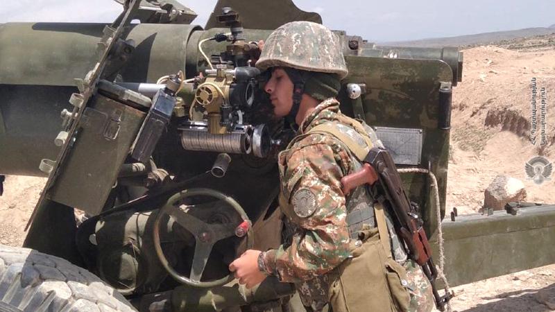 3-րդ զորամիավորման հրետանային ստորաբաժանումների զինծառայողների ներգրավմամբ անցկացվել են գործնական պարապմունքներ