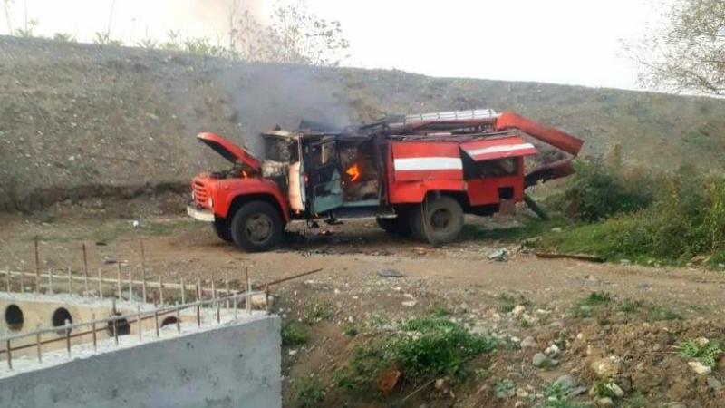 Ադրբեջանը ԱԹՍ-ով դիտավորյալ թիրախավորել է խաղաղ բնակիչներին ջուր տանող հրշեջ մեքենային․ ԱՀ ՄԻՊ
