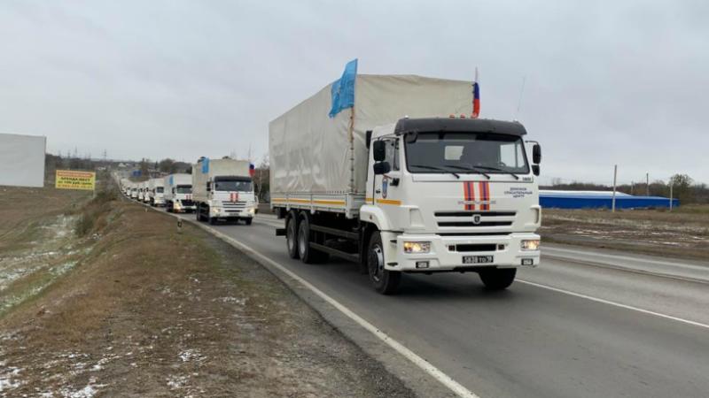 Ռուսաստանի ԱԻ նախարարության մարդասիրական օգնության առաջին շարասյունը ժամանել է Ստեփանակերտ