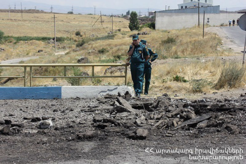 Պայթյուն Երևան-Սևան ավտոճանապարհին