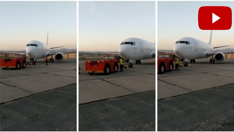 Boeing 737-300 օդանավը վայրէջք կատարեց Երևանում (տեսանյութ)