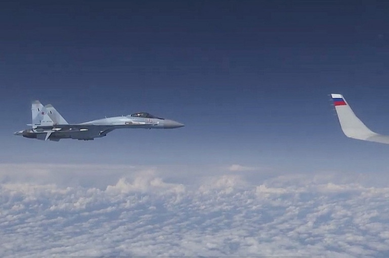 ՆԱՏՕ-ի կործանիչը փորձել է մոտենալ ՌԴ պաշտպանության նախարարի օդանավին (տեսանյութ)