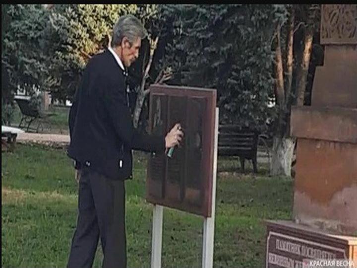 Քաղաքային դումայի պատգամավոր Ալեքսեյ Վինոգրադովը սև է ներկել Գարեգին Նժդեհի պատվին կանգնեցված հուշատախտակը