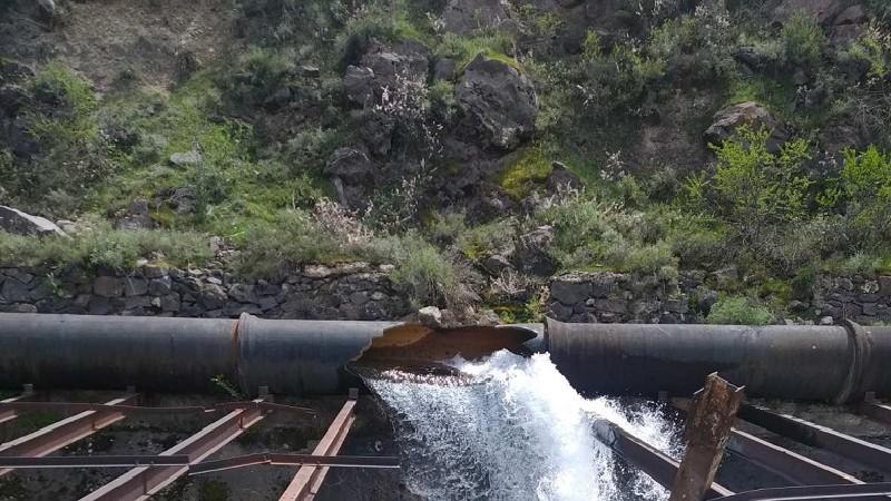 Արզնի-Երևան ջրատարը վթարվել է հարակից բարձունքից պոկված ժայռաբեկորի պատճառով