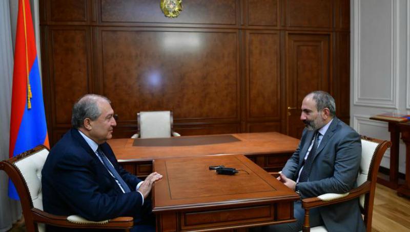 Արմեն Սարգսյանն ու Նիկոլ Փաշինյանն այսօր հանդիպում են ունեցել