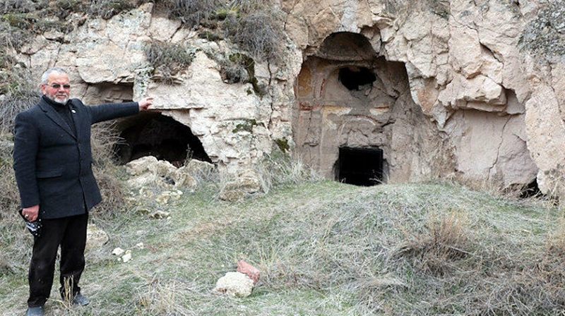 Կեսարիայի հայկական ժայռափոր եկեղեցին ավերվել է գանձագողերի կողմից