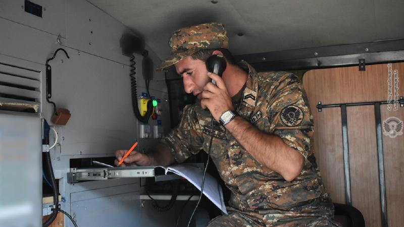 5-րդ զորամիավորման կապի ստորաբաժանումների զինծառայողների հետ անցկացվել են ուսումնական վարժանքներ