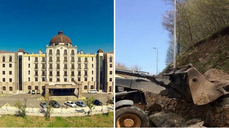 «Գոլդեն Փելես» հյուրանոցային համալիրի մոտակայքում տեղի է ունեցել քարաթափում. քարերը հեռացնելու համար անհրաժեշտ է եղել օգնություն