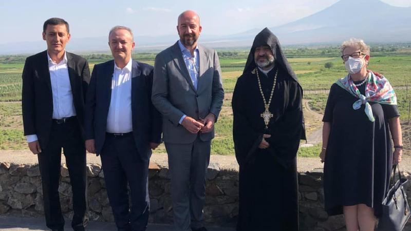 Շառլ Միշելն այցելել է Խոր Վիրապ, ծանոթացել հայկական մշակութային ժառանգությանը (լուսանկարներ)