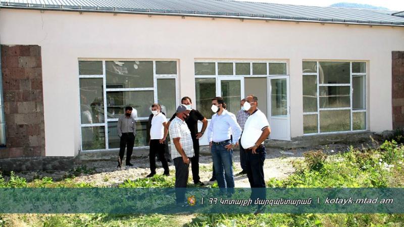 Աղավնաձոր բնակավայրի մանկապարտեզի հիմնանորոգման և բակային հատվածի բարեկարգման աշխատանքներն ընթացքի մեջ են. Կոտայքի մարզպետարան