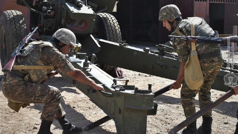 5-րդ զորամիավորման հրետանային ստորաբաժանումներն անցկացրել են գործնական պարապմունքներ