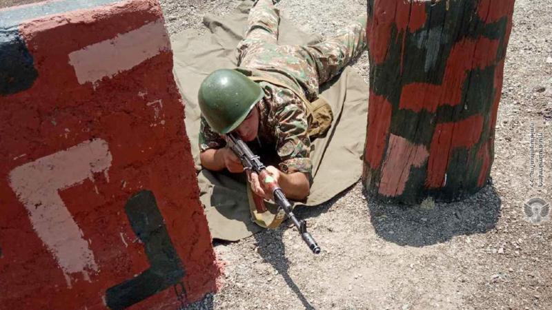 1-ին զորամիավորման ենթակա զորամասում անցկացվել են կրակային պատրաստության գործնական պարապմունքներ