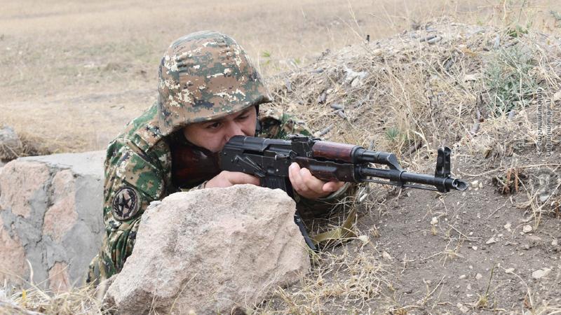 Զինծառայողները կատարել են կրակային տարբեր վարժանքներ՝ ցուցաբերելով բարձր պատրաստվածություն
