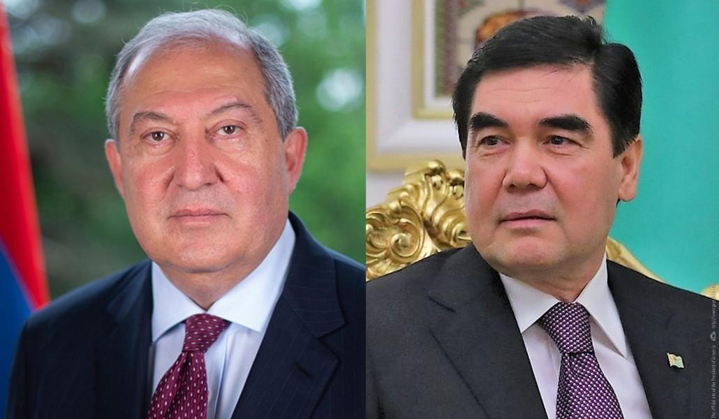 Արմեն Սարգսյանը շնորհավորական ուղերձ է հղել Թուրքմենստանի նախագահին