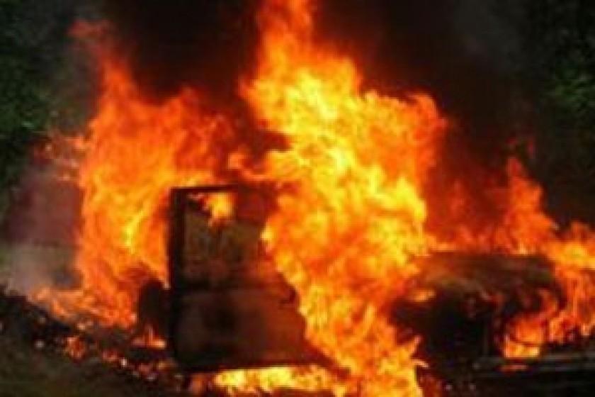 Այգեհովիտում «Peugeot Partner»-ն ամբողջությամբ այրվել է