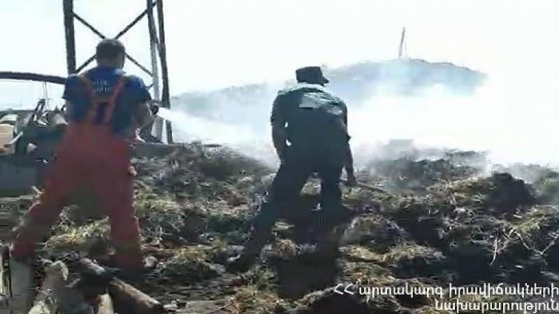 Լանջազատ գյուղում այրվել է մոտ 200 հակ անասնակեր