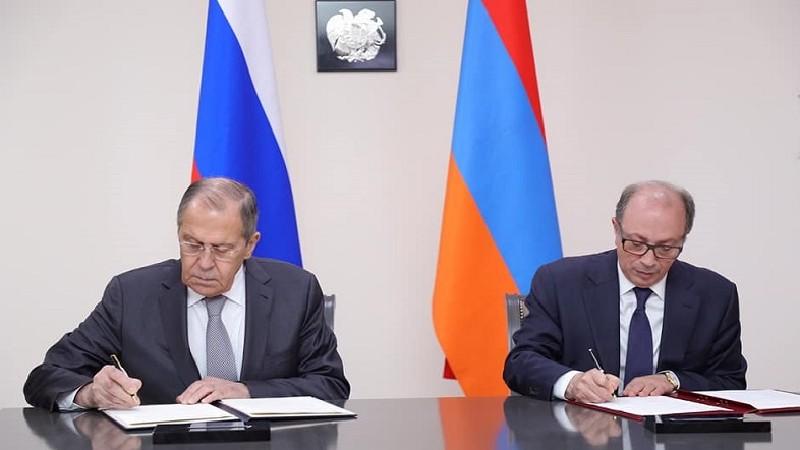 Արա Այվազյանը և Սերգեյ Լավրովը ՀՀ և ՌԴ միջև փոխըմբռնման հուշագիր են ստորագրել