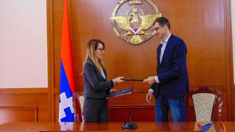 Հայաստանն Արցախի սոցիալական անվտանգության երաշխավորն է. Մեսրոպ Առաքելյանն ու Մանե Թանդիլյանը համագործակցության հուշագիր են ստորագրել