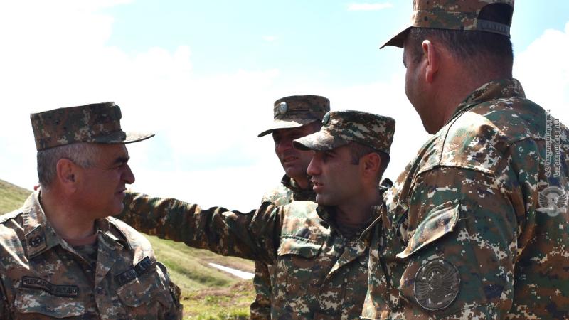 2-րդ զորամիավորման հրամանատարական կազմը ստուգայց է կատարել մարտական դիրքեր