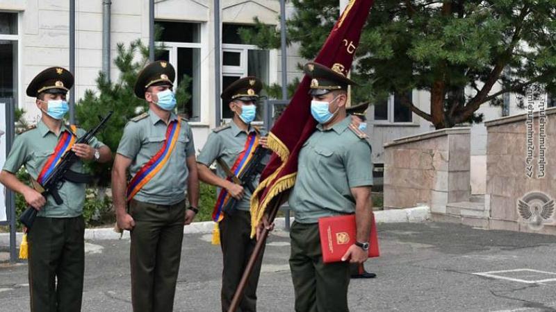 5-րդ զորամիավորման N զորամասին հանդիսավոր պայմաններում հանձնվել է մարտական դրոշ