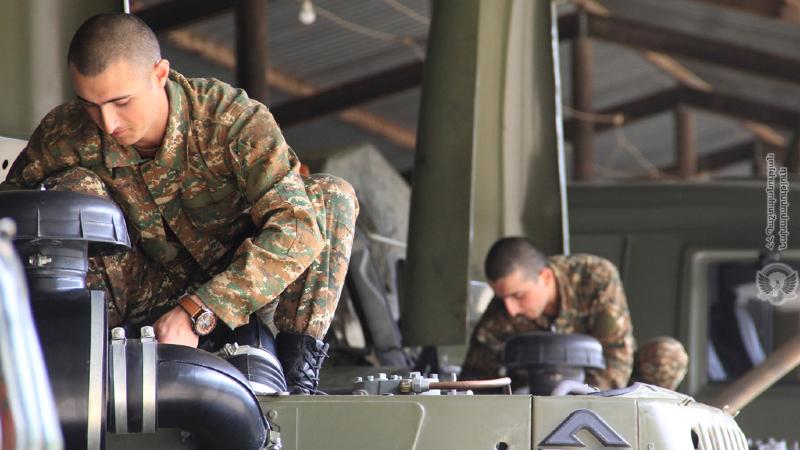 3-րդ զորամիավորման զորամասերում մեկնարկել են սպառազինության և ռազմական տեխնիկայի սեզոնային սպասարկման աշխատանքները