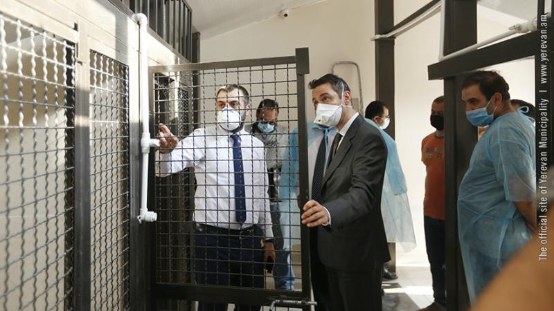 Հայկ Մարությանը ծանոթացել է «Թափառող կենդանիների վնասազերծման» ՀՈԱԿ-ի նոր շենքի պայմաններին