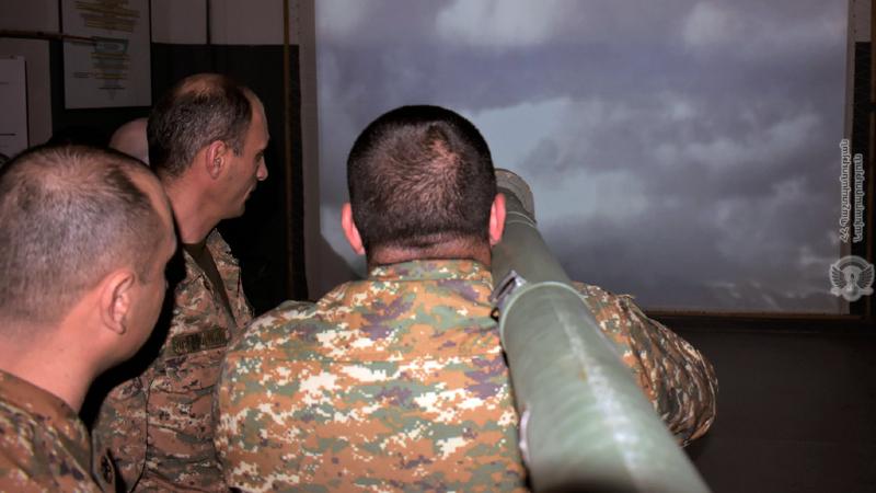 5-րդ զորամիավորման հակաօդային պաշտպանության հրամանատարական կետի անձնակազմի հետ անցկացվել են համալիր մարզումներ