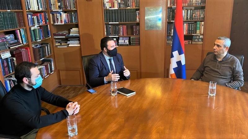 Արցախի Հանրապետության ԱԳՆ ղեկավար Մասիս Մայիլյանը հանդիպում է ունեցել Իսպանիայի Պատգամավորների Կոնգրեսի պատգամավոր Ջոն Ինյարիտուի հետ