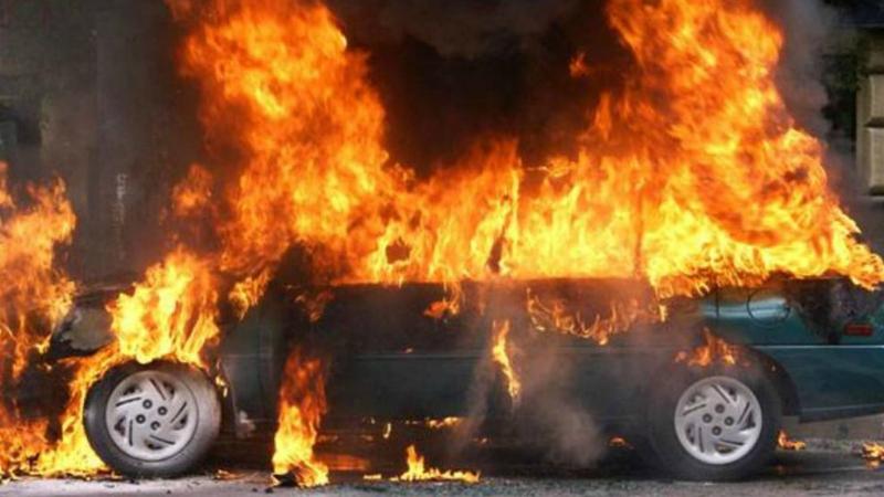 Աշտարակ-Ագարակ ավտոճանապարհին ավտոմեքենա է այրվել